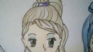 draw hair manga types
