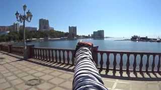 На велосипеде по Спортивной набережной.(Владивосток 9 сентября 2014 на велосипеде по Спортивной набережной.Видео снято с помощью экшн видеокамеры..., 2015-03-22T00:36:12.000Z)