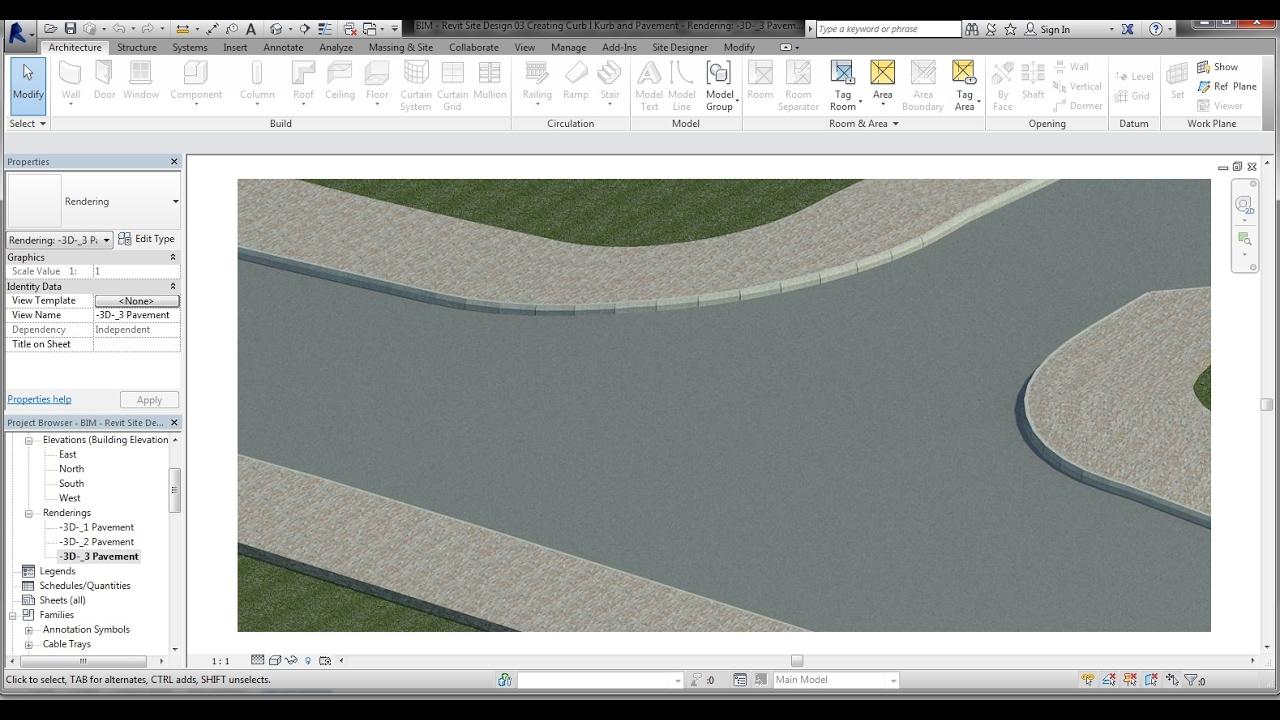 Bim Revit Site Design 03 Creating Curb L Kerb And