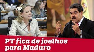 PT fica de joelhos para Nicolás Maduro