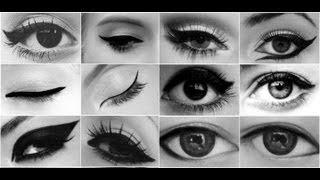 Рисуем СТРЕЛКИ для разных видов глаз(Макияж Форма глаз Как рисовать СТРЕЛКИ / Perfect eyeliner make up tutorial Правильно рисовать стрелки, кошачьи глазки,..., 2015-01-13T23:38:25.000Z)