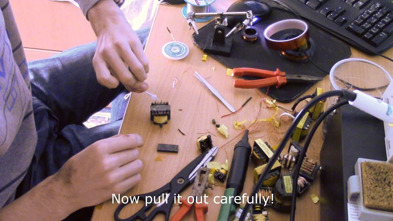 How To Disassemble/Salvage Ferrite Core From SMPS Transformer