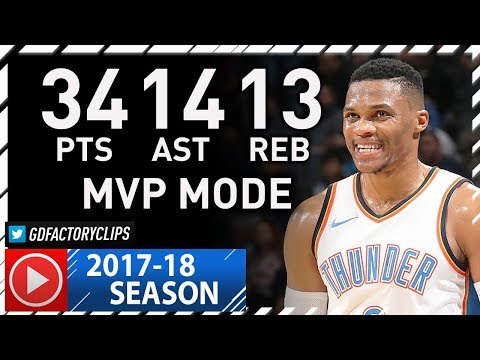 Russell Westbrook Triple-Double Full Highlights vs Jazz (2017.12.05) - 34 Pts, 14 Ast, 13 Reb, CRAZY