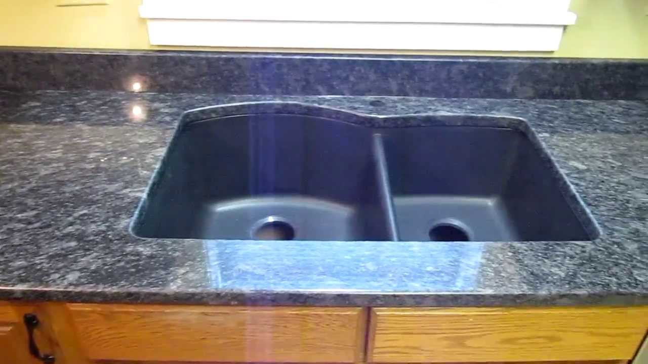 Undermount Sink Mounting : ... Granite Countertop Installation W/ Composite Undermount Sink - YouTube