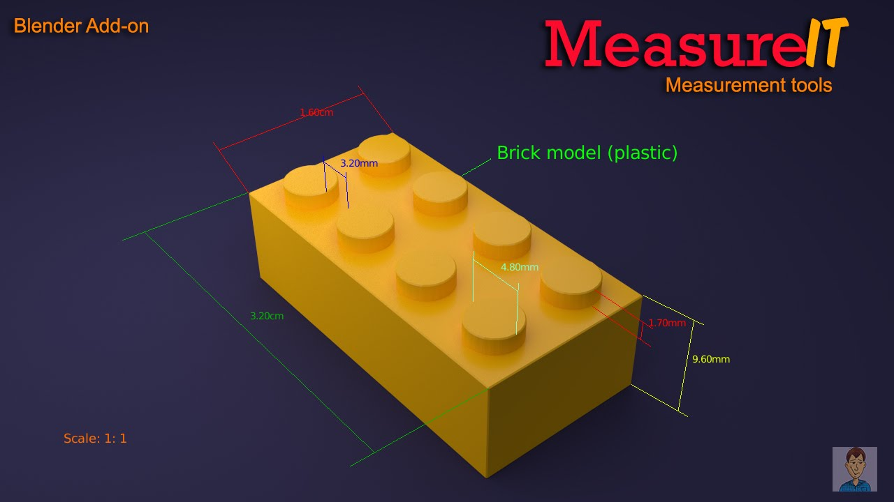 how to use scale measurements blender