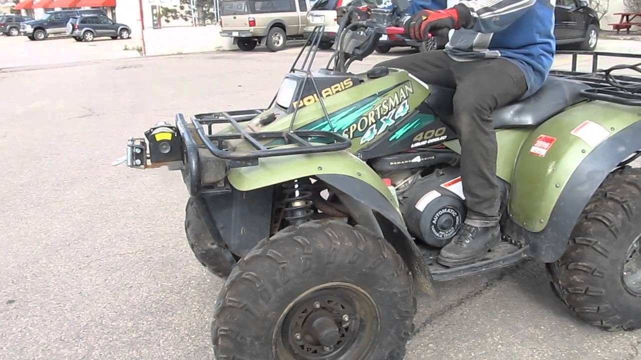 1997 POLARIS SPORTSMAN 400L 4X4 LIQUID COOLED MOTOR AND PARTS FOR SALE ON  EBAY