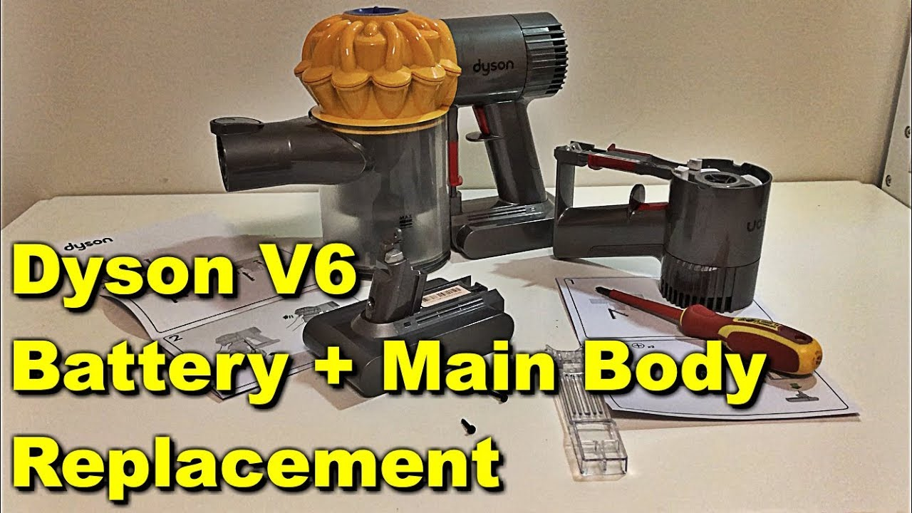 Dyson V6 Flashing Red Light fix V6 Slim Dyson V6 Animal Main Body and  Battery Replacement How to FIX
