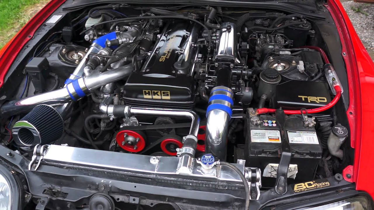 toyota supra 2jz-gte twinturbo enginebay - youtube