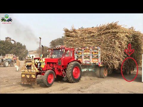 Belarus 510 | 32FT 12 Wheel Tralla 66,000KG (1650 Maund) Sugarcane load