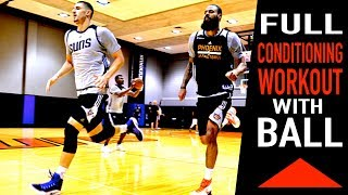 FREE 45 Minute Basketball Conditioning Workout with a BASKETBALL