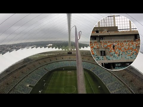 World's Tallest Rope Swing From Stadium