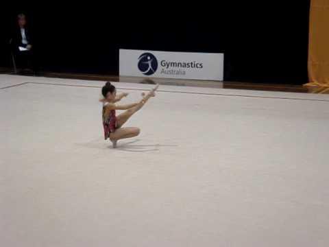 Tash's L8 Clubs routine , 2010 Australian Rhythmic gymnastics Nationals