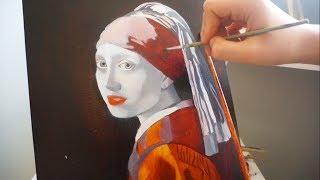 Уроки живописи маслом. Девушка с жемчужной сережкой.Часть 3.Техника старых мастеров