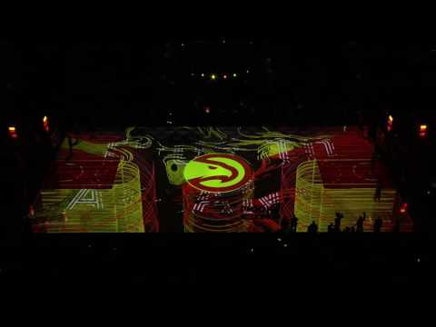 Hawks Debut Awesome New Court Projection For 2016-17 Season