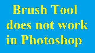 fix brush tool does not work in photoshop betdownload com