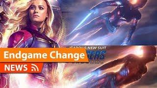 Avengers Endgame Captain Marvel Major Suit Change Spotted & More