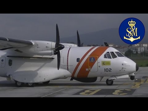 Avión Casa CN 235-300 de Salvamento Marítimo en Full-HD.
