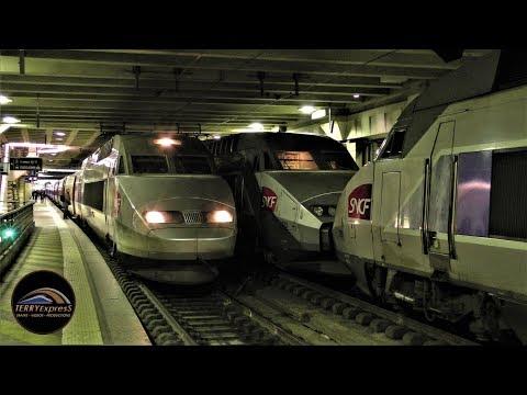 Paris trains : Les TGV de Paris-Montparnasse [Bonne Année 2018]