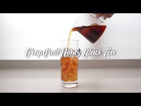 스타벅스 자몽허니블랙티 레시피 ? Starbucks Grapefruit Honey Black Tea - YouTube