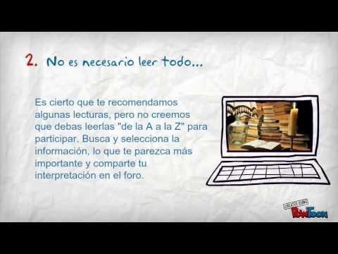 ¿Qué debo hacer en un foro virtual de aprendizaje?