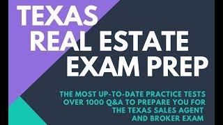 Pass the Texas Real Estate Exam Salesperson Broker License