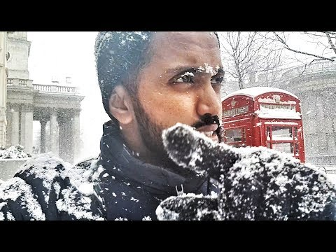 -6 C Temperature And Crazy Snowfall In London