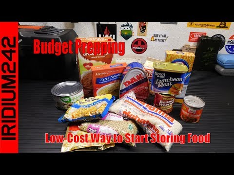 Budget Prepping: Low Cost Way to Start Storing Food