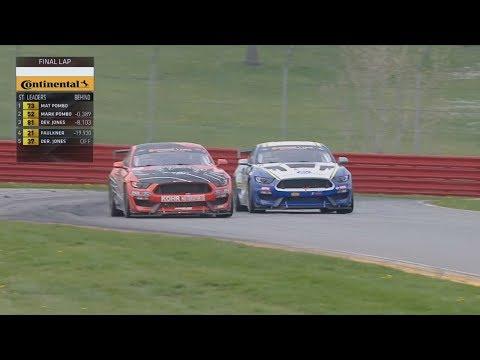 IMSA Continental Tire SportsCar Challenge 2018. Mid-Ohio 120. Last Laps Battle for Win