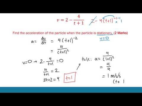 HSC Mathematics | Motion | ATAR Notes Video Revision Series