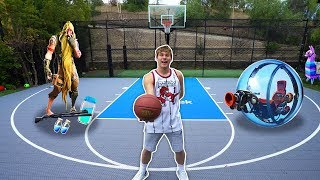 EPIC REAL LIFE FORTNITE BASKETBALL CHALLENGES
