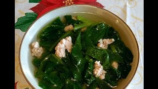 How To Make Vietnamese Malabar Spinach Soup With Pork & Tofu - Cach Lam Canh Mong Toi