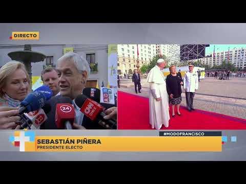 """Sebastián Piñera luego del acto en La Moneda: """"Me gustaría mucho recibir los consejos del Papa"""""""