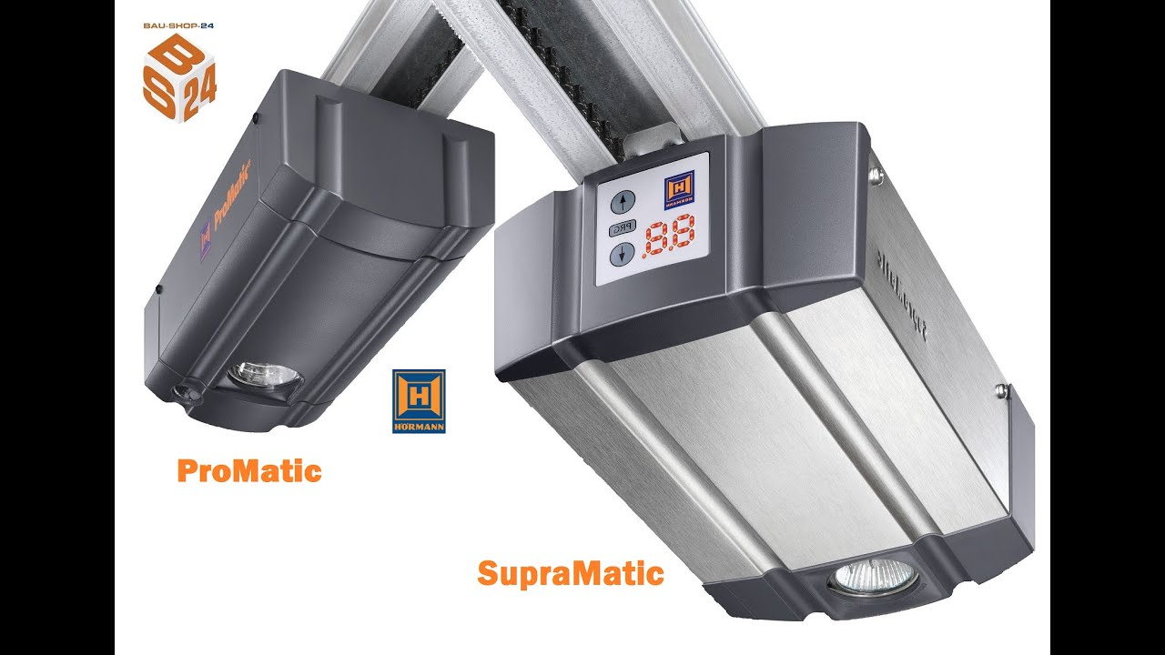 Hormann Promatic And Supramatic Garage Door Opener Installation