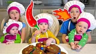 Five Kids Let us bake cookies Nursery Rhymes & Kids Songs