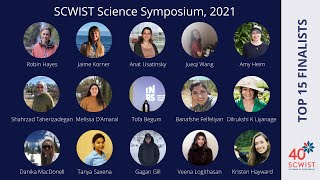 SCWIST Science Symposium, 2021, Top 15 Finalists