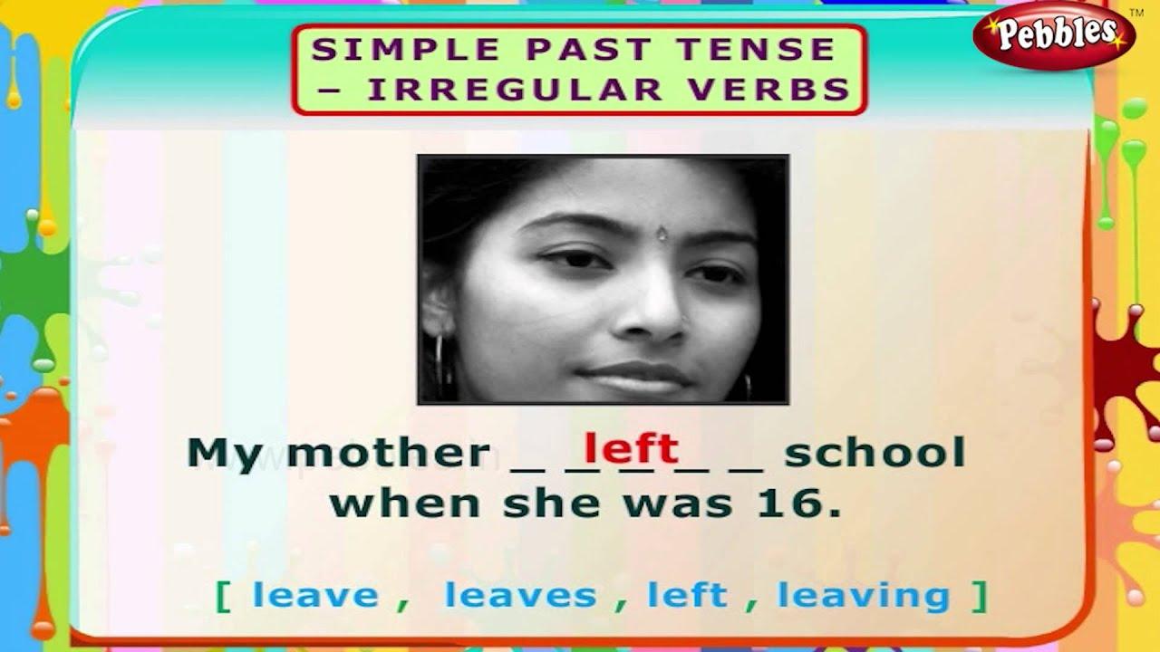 Simple Past Tense Irregular Verbs English Grammar Exercises For Kids English Grammar