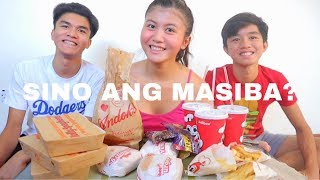 SPEED EATING CHALLENGE WITH MY SIBLINGS! FT. JOLLIBEE BIDA ANG SAYA MUKBANG | CHUCKYHITS