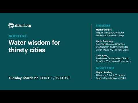 Water wisdom for thirsty cities