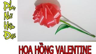 CÁCH XẾP DÂY RUY BĂNG HOA HỒNG VALENTINE|PHỤ NỮ HIỆN ĐẠI