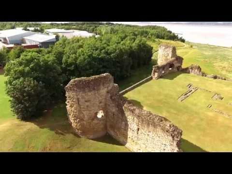 DJI Phantom 3 Advanced flight around Flint Castle
