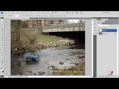 Photoshop CS4 Removing Date Time Stamp From Your Photos