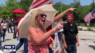 """Protesters gather at Texas Capitol for """"Shed the Mask"""" rally"""