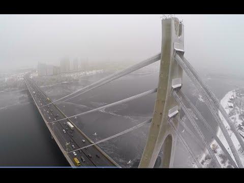Moscow bridge, Kiev | Aerial survey | Московский мост | GoPro