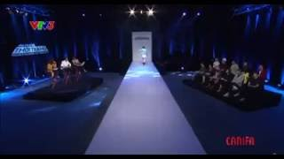 Vu Cat Tuong catwalk in Project Run Away Ep 03