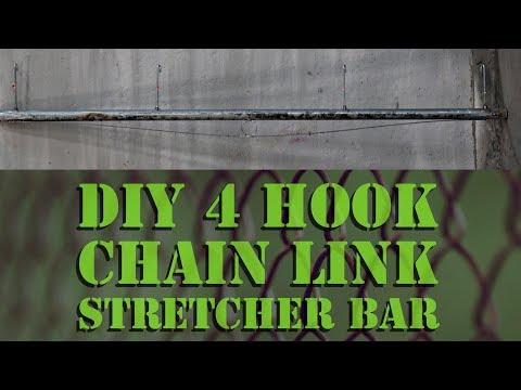 DIY 4 3 Hook Fence Stretcher Bar for Chain Link