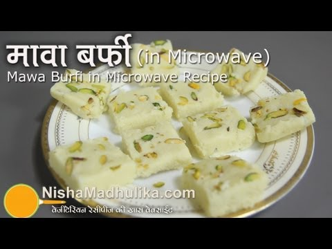 Mawa barfi recipe in microwave - Khoya Burfi Recipe in Microwave
