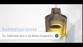 SunClass - vom Silizium-Impfkristall zum Wafer.