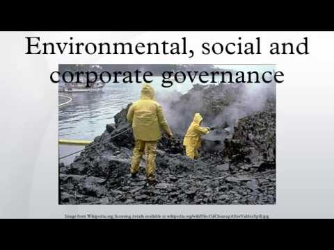 Environmental, social and corporate governance