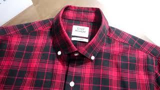 레디코 레디핏 일반 캐주얼 잔체크 피치기모 긴팔남방셔츠…