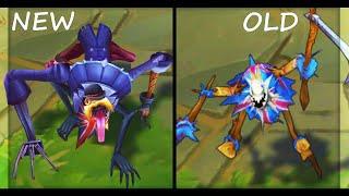 All Fiddlesticks Skins Rework NEW vs OLD Texture Comparison (League of Legends)